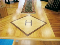 Hansen's Wood Flooring - Our Showroom - Custom Designed Floor