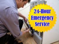 L & G Appliance Repair & Heat - Technician working on dryer