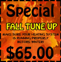 Conner's Appliance Repair - Fall Tune Up Special