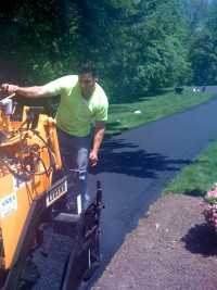 Christopher's Paving - Paving Job In Progress