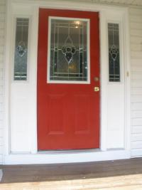 Jet Glass and Mirror - decorative glass entry door