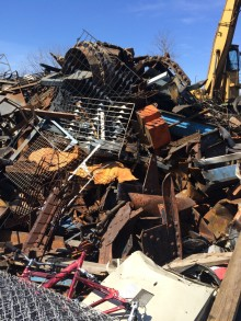 Metro Metal Recycling - Pile of steel scrap metal