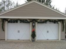 McMurray Garage Doors   Home Garage Doors With Christmas Tree