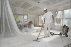 Hebe Drywall - Cleaning Up After Job