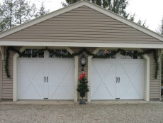 McMurray Garage Doors - Home Garage Doors with Christmas Tree