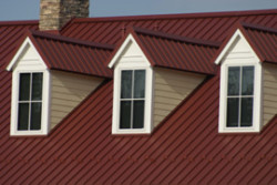 Allen Roofing & Siding Company, Inc. - Red Metal Roofing on Home