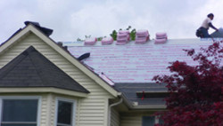 Allen Roofing & Siding Company, Inc. - Contractor Repairing Roof