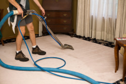 MBM Cleaning - cleaning a carpet
