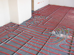FiveStar Plumbing Services - radiant heat flooring during installation