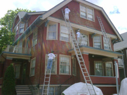 Randymars Painters and Contractors - Exterior House Painting In Progress