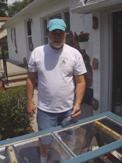 Peter to the Rescue - Window Frame Painting
