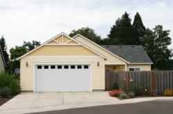 Allstar Garage Door Repair - Yellow Home with Garage Door in Frisco TX