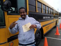 AAA CDL SCHOOL - Student taking Bus Driving COurse