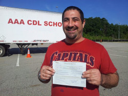 AAA CDL SCHOOL - Happy Student with his CDL Class A license