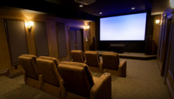 Finishing Touch Home Theater - home theater in basement