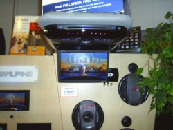 Audio Electronics - ceiling mounted mobile video display