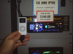 Audio Electronics - display of iPod integration options
