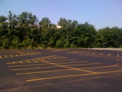 Christopher's Paving - A Finished Parking Lot Job