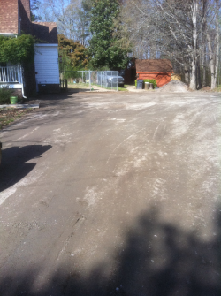 Driveway Paving Before-Raleigh NC