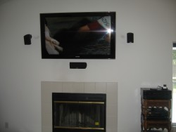 hoz tv - fireplace surround sound
