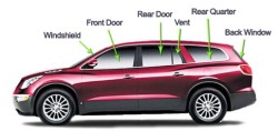 Master Auto Glass Corp. - SUV Diagram