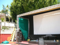 Knutson Electric - Commercial Electrician Services - Outdoor Stage Setup