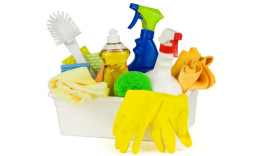 Spruce It Up Cleaning Services, LLC - Bucket of Cleaning Products
