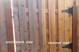 Omaha Extreme Powerwashing and Staining - Fence Before and After Powerwashing