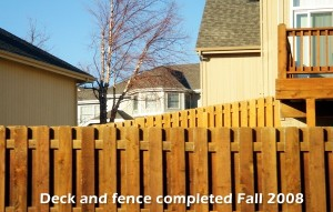 Omaha Extreme Powerwashing and Staining - Finished Fence Before and After Powerwashing