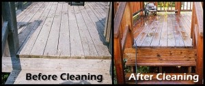 Omaha Extreme Powerwashing and Staining - Porch Before and After Powerwashing