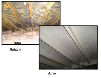 KEM Environmental Solutions- Mold Before/After Image