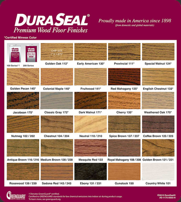 American Wood U0026 Tile   Stain Color Chart