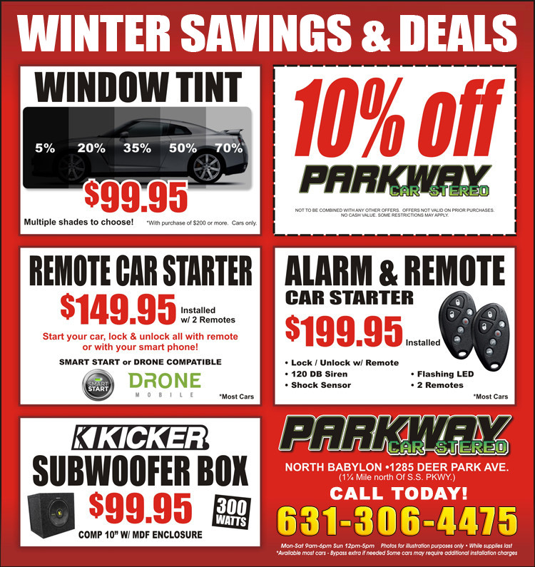 Parkway Car Sereo - Savings