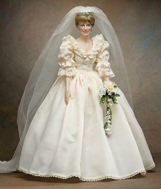 Princess diana wedding doll franklin mint
