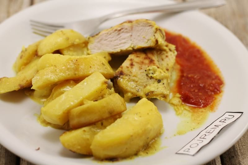 Рецепт куриное филе с картошкой
