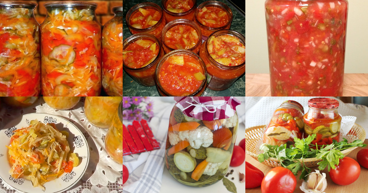 Рецепт салата огурцы помидоры капуста на зиму