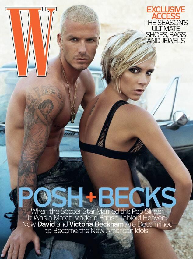 Victoria Beckham, David Beckham, W Magazine