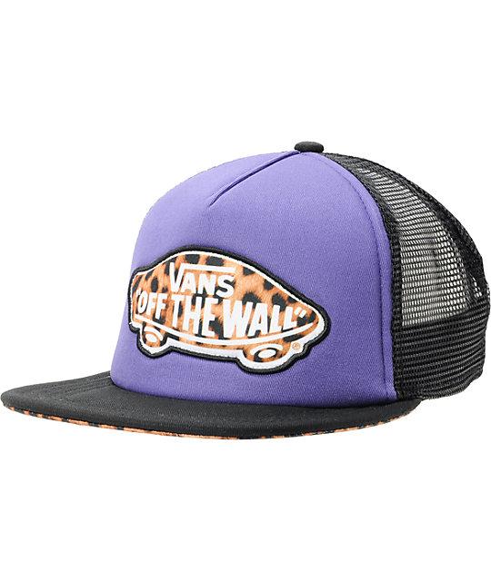 Pink leopard vans hat