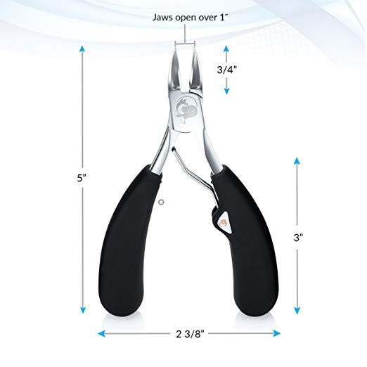 Extra large toenail clippers for thick nails