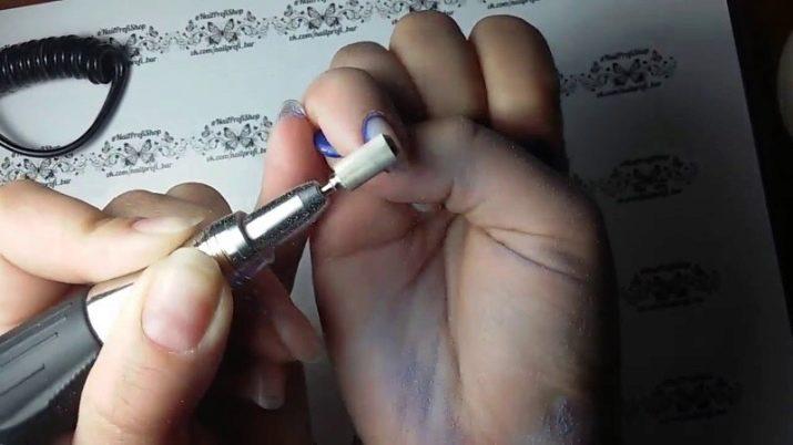 Спиливание гель лака фрезой