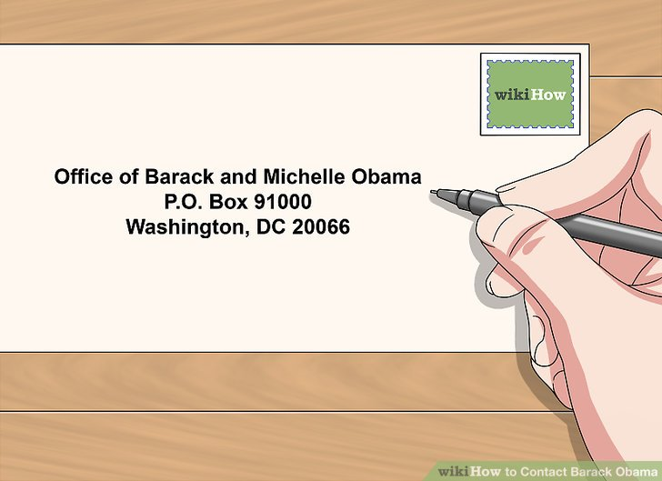 Image titled Contact Barack Obama Step 7