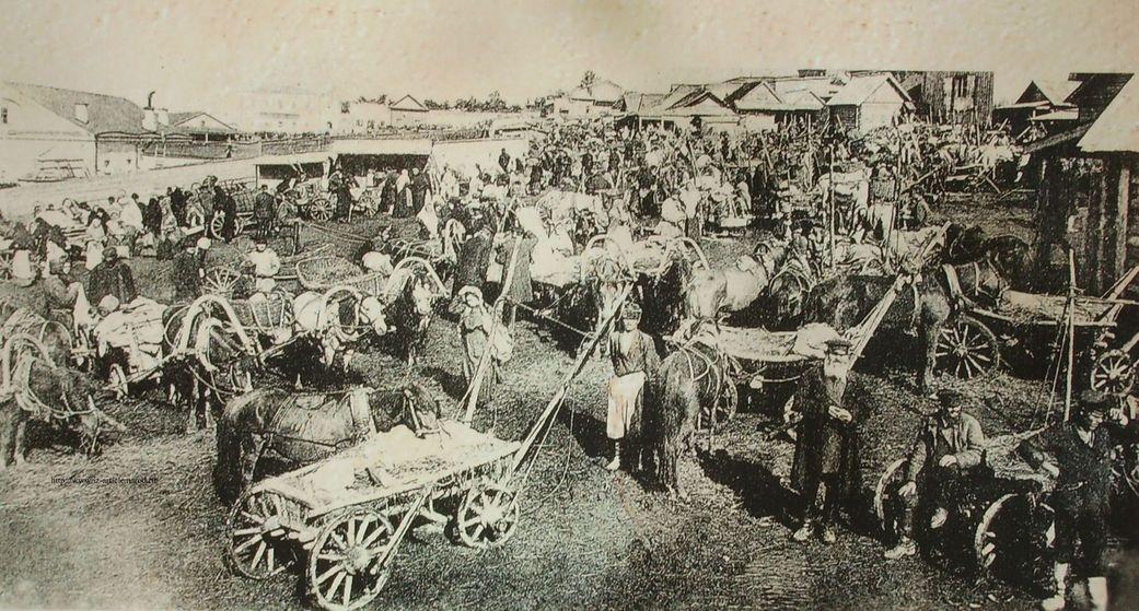 Базарная площадь. Ижевск. 1912г.
