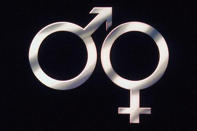Знак мужчина и женщина кружочки