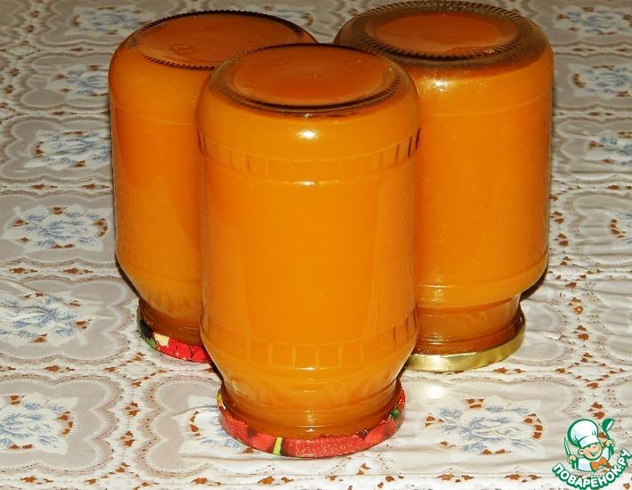 Рецепт тыквенного сока с апельсином и лимоном на зиму