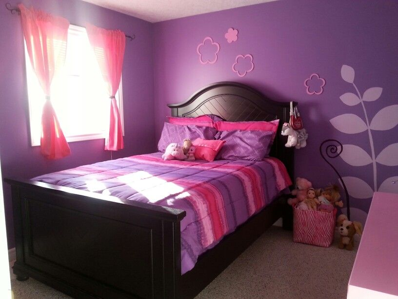 Girls pink and purple rooms