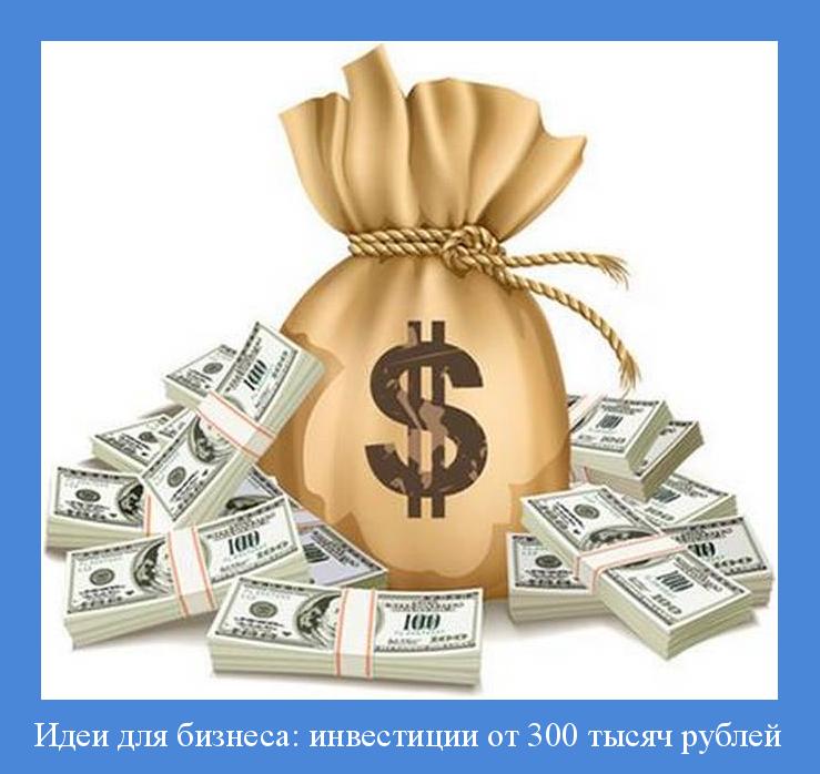 Бизнес идеи до 300000 тысяч рублей