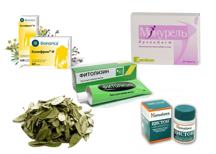фітопрепарати для полегшення стану при запаленні мочевіка