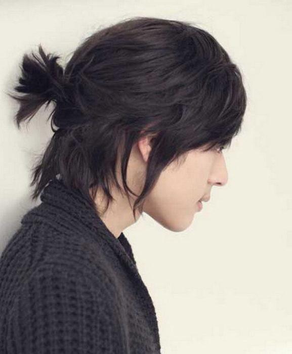 The Ponytail Hairstyle for Korean Men