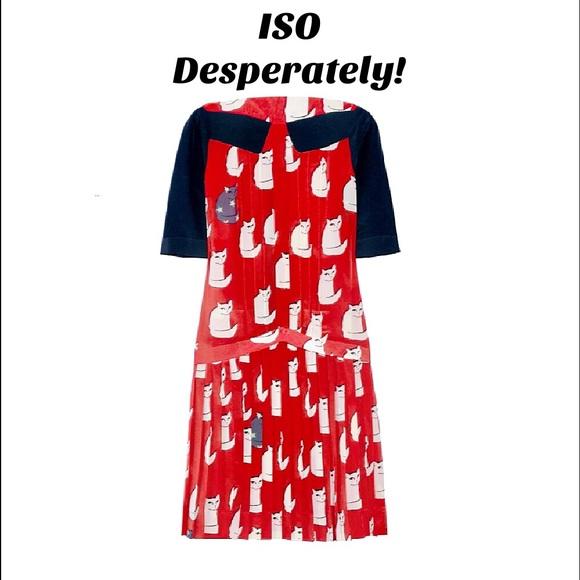 Victoria beckham cat print dress buy