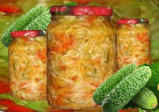 Салат из капусты огурцов и помидор на зиму в банках